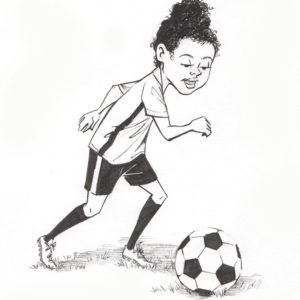 Karen Playing Soccer