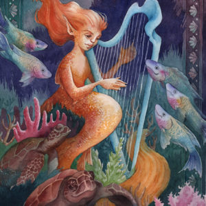 Fantasia in Green and Gold, The Harp Player